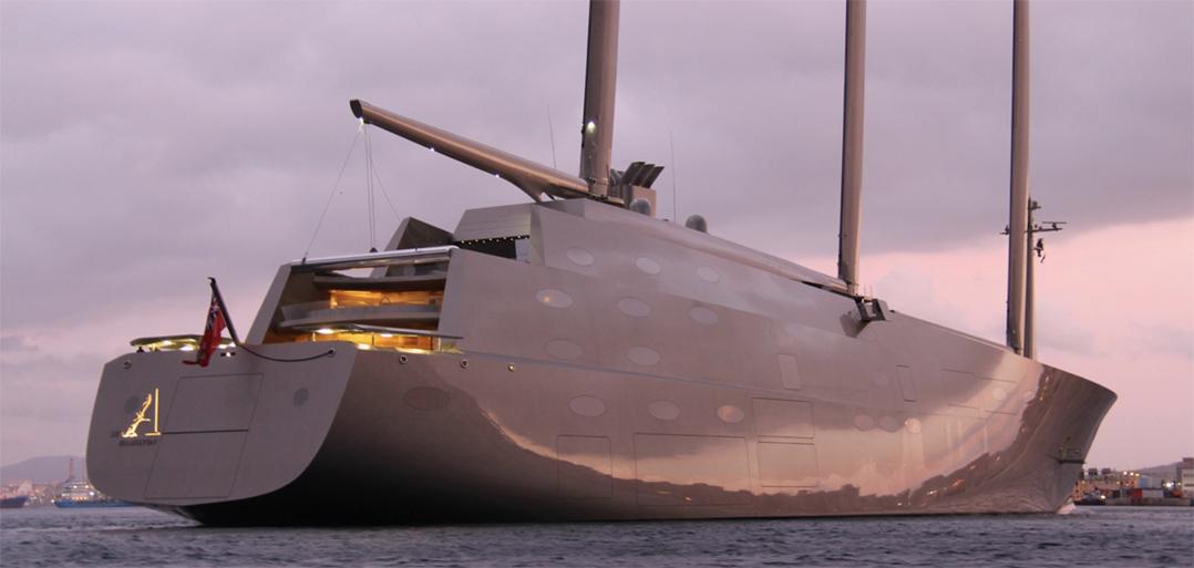 """Super Yacht """"A"""" visit Puerto Banus…"""